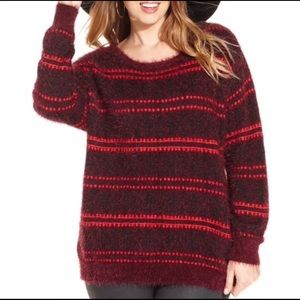Jessica Simpson Soft and Fuzzy Long Sleeve Sweater